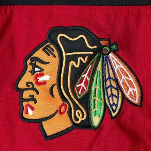 スターター STARTER シカゴ 【 CHICAGO BLACKHAWKS STRIKER HOODED HALFZIP JACKET RED 】 メンズファッション コート ジャケット 送料無料