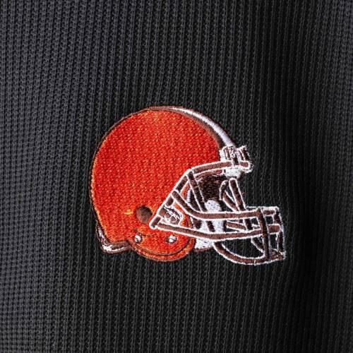 G-III SPORTS BY CARL BANKS クリーブランド ブラウンズ フリース 黒 ブラック メンズファッション コート ジャケット メンズ 【 Cleveland Browns Qr Audible Full-zip Fleece Jacket - Black 】 Black