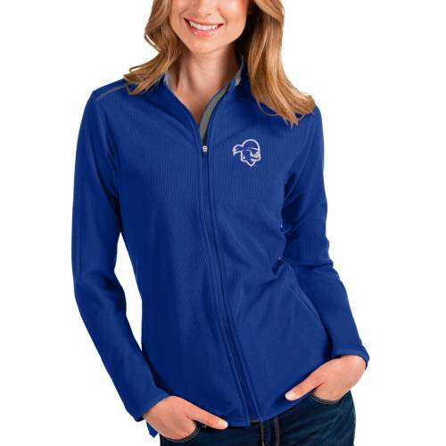 ANTIGUA 海賊団 レディース 【 Seton Hall Pirates Womens Glacier Full-zip Jacket - Blue/gray 】 Royal