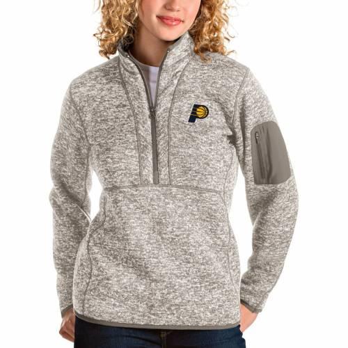 ANTIGUA インディアナ ペイサーズ レディース ナチュラル 【 Indiana Pacers Womens Fortune Quarter-zip Pullover Jacket - Natural 】 Natural
