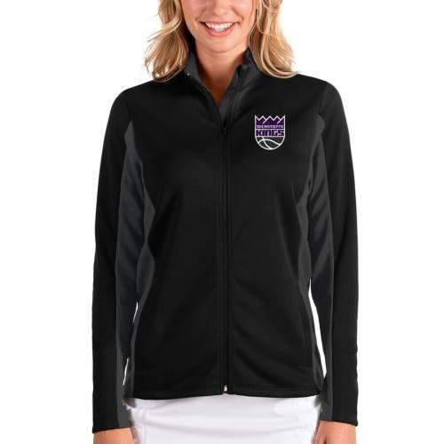 ANTIGUA サクラメント キングス レディース 【 Sacramento Kings Womens Passage Full-zip Jacket - Black/charcoal 】 Black/charcoal