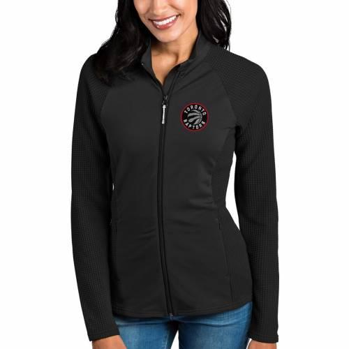 ANTIGUA トロント ラプターズ レディース 黒 ブラック 【 Toronto Raptors Womens Sonar Full-zip Jacket - Black 】 Black