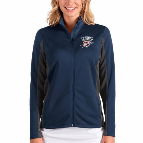 ANTIGUA シティ サンダー レディース 【 Oklahoma City Thunder Womens Passage Full-zip Jacket - Navy/charcoal 】 Navy/charcoal