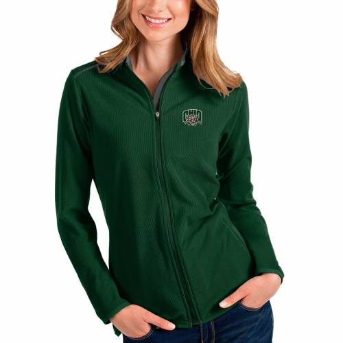 ANTIGUA オハイオ ボブキャッツ レディース 【 Ohio Bobcats Womens Glacier Full-zip Jacket - Green/gray 】 Hunter Green