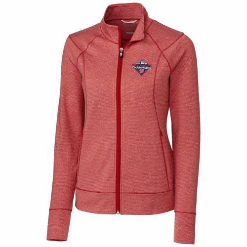 CUTTER & BUCK ワシントン ナショナルズ レディース シリーズ 赤 レッド 【 Washington Nationals Cutter And Buck Womens 2019 World Series Champions Shoreline Full-zip Jacket - Red 】 Red