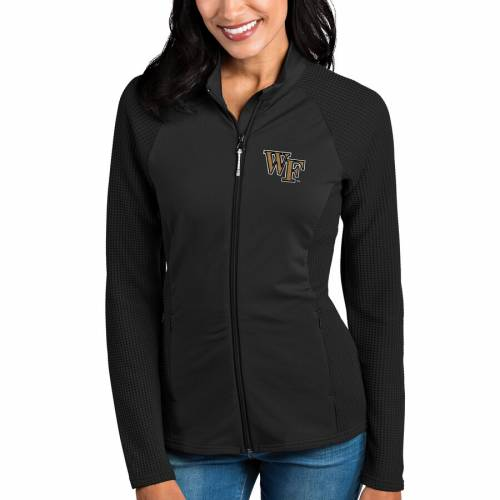 ANTIGUA フォレスト レディース 黒 ブラック 【 Wake Forest Demon Deacons Womens Sonar Full-zip Jacket - Black 】 Black