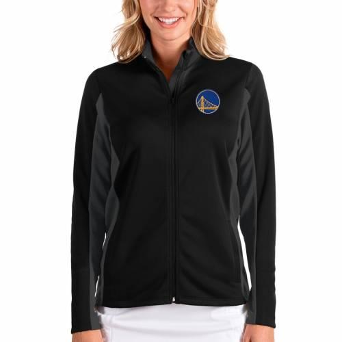 ANTIGUA スケートボード ウォリアーズ レディース 【 Golden State Warriors Womens Passage Full-zip Jacket - Black/charcoal 】 Black/charcoal