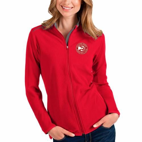 ANTIGUA アトランタ ホークス レディース 【 Atlanta Hawks Womens Glacier Full-zip Jacket - Black/red 】 Red