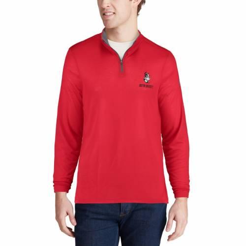 アンダーアーマー UNDER ARMOUR ボストン 赤 レッド メンズファッション コート ジャケット メンズ 【 Boston University Threadborne Quarter-zip Jacket - Red 】 Red