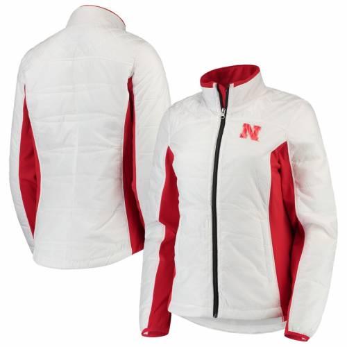 G-III 4HER BY CARL BANKS レディース グランド 白 ホワイト 【 Nebraska Cornhuskers Womens Full-zip Grand Slam Jacket - White 】 White