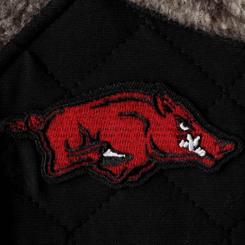 GAMEDAY COUTURE レディース 黒 ブラック 【 Arkansas Razorbacks Womens Side Note Quilted Panel Snap-up Pullover Jacket - Black 】 Black