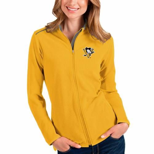 【スーパーセール中! 6/11深夜2時迄】ANTIGUA ピッツバーグ レディース 【 Pittsburgh Penguins Womens Glacier Full-zip Jacket 】 Gold