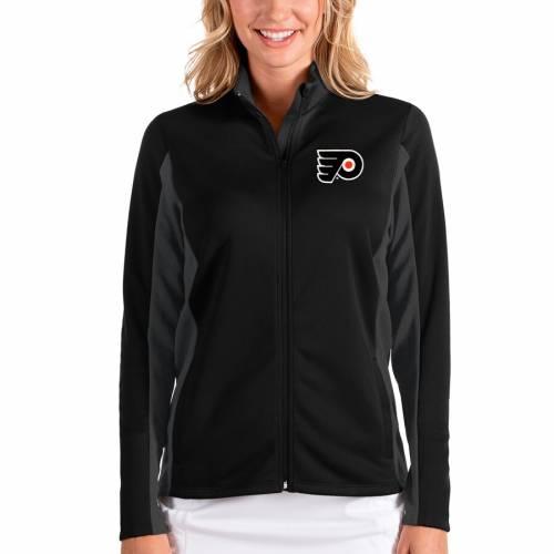 ANTIGUA フィラデルフィア レディース 【 Philadelphia Flyers Womens Passage Full-zip Jacket - Black/charcoal 】 Black/charcoal