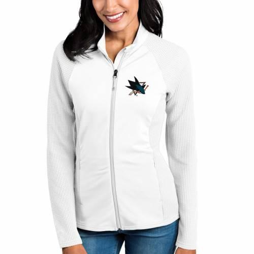 【スーパーセール中! 6/11深夜2時迄】ANTIGUA レディース 白 ホワイト 【 San Jose Sharks Womens Sonar Full-zip Jacket - White 】 White