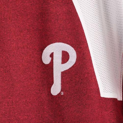 マジェスティック MAJESTIC フィラデルフィア フィリーズ メンズファッション コート ジャケット メンズ 【 Philadelphia Phillies Big And Tall Two-tone Quarter-zip Pullover Jacket - Red/white 】 Red/white