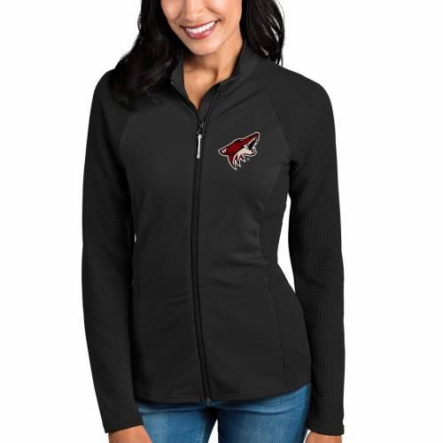 ANTIGUA アリゾナ レディース 黒 ブラック 【 Arizona Coyotes Womens Sonar Full-zip Jacket - Black 】 Black