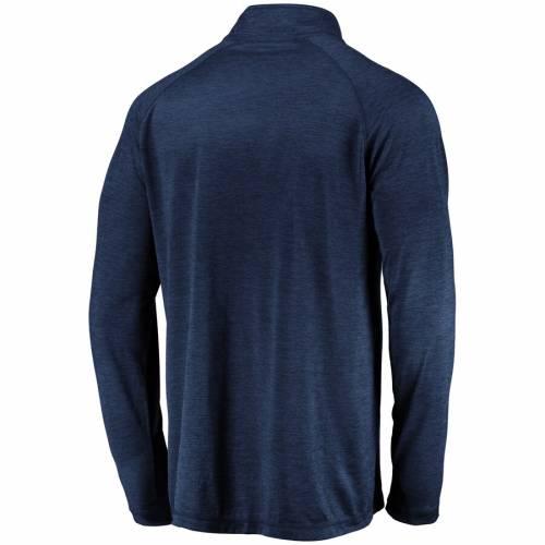 FANATICS BRANDED ラグラン 紺 ネイビー メンズファッション コート ジャケット メンズ 【 New Orleans Pelicans Iconic Striated Raglan Quarter-zip Pullover Jacket - Navy 】 Navy