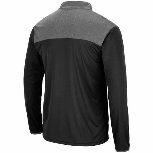 COLOSSEUM スケートボード 黒 ブラック メンズファッション コート ジャケット メンズ 【 Iowa State Cyclones Cliff Quarter-zip Jacket - Black 】 Black