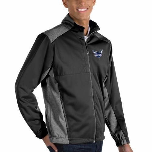ANTIGUA シャーロット ホーネッツ 黒 ブラック メンズファッション コート ジャケット メンズ 【 Charlotte Hornets Revolve Full-zip Jacket - Black 】 Black