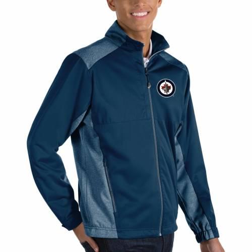 ANTIGUA ジェッツ チャコール メンズファッション コート ジャケット メンズ 【 Winnipeg Jets Revolve Big And Tall Full-zip Jacket - Charcoal 】 Navy