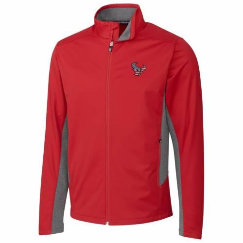 CUTTER & BUCK ヒューストン テキサンズ 紺 ネイビー メンズファッション コート ジャケット メンズ 【 Houston Texans Cutter And Buck Americana Navigate Softshell Full-zip Jacket - Navy 】 Red