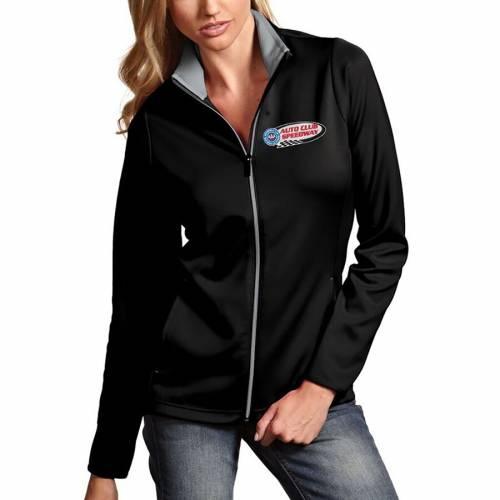 【スーパーセール中! 6/11深夜2時迄】ANTIGUA クラブ レディース 【 Auto Club Speedway Womens Leader Full Zip Jacket 】 Black