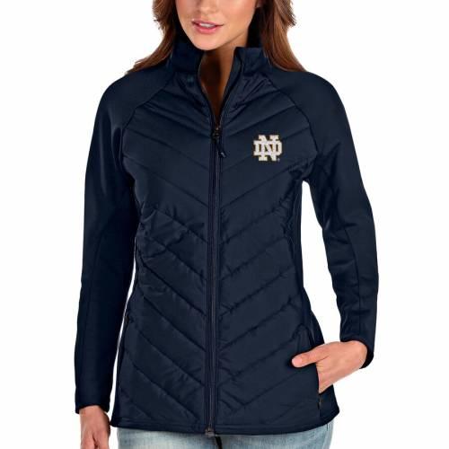 ANTIGUA レディース 紺 ネイビー 【 Notre Dame Fighting Irish Womens Altitude Full-zip Puffer Jacket - Navy 】 Navy