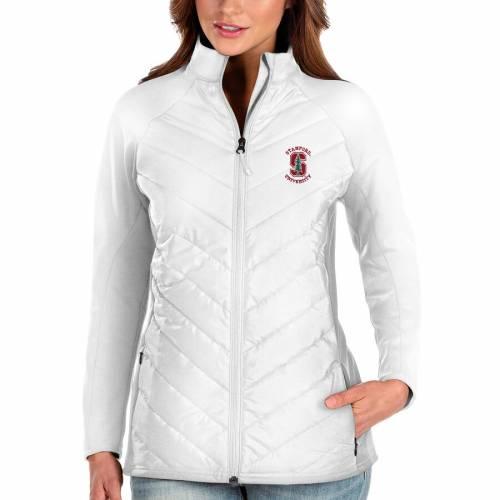 ANTIGUA スタンフォード 赤 カーディナル レディース 白 ホワイト 【 Stanford Cardinal Womens Altitude Full-zip Puffer Jacket - White 】 White
