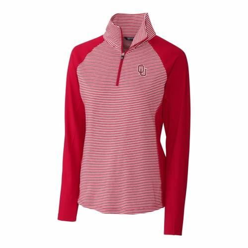 CUTTER & BUCK レディース 【 Oklahoma Sooners Cutter And Buck Womens Forge Tonal Half-zip Pullover Jacket - Crimson 】 Crimson