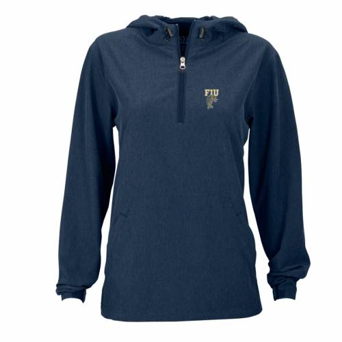 VANTAGE APPAREL パンサーズ レディース 紺 ネイビー 【 Fiu Panthers Womens Pullover Stretch Anorak Jacket - Navy 】 Navy