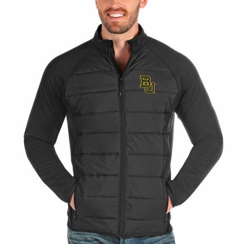 ANTIGUA ベイラー ベアーズ チャコール メンズファッション コート ジャケット メンズ 【 Baylor Bears Altitude Full-zip Jacket - Charcoal 】 Charcoal