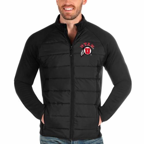 ANTIGUA ユタ 黒 ブラック メンズファッション コート ジャケット メンズ 【 Utah Utes Altitude Full-zip Jacket - Black 】 Black
