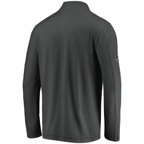 FANATICS BRANDED オーセンティック プロ 灰色 グレー グレイ メンズファッション コート ジャケット メンズ 【 Vegas Golden Knights Authentic Pro Clutch Quarter-zip Pullover Jacket - Gray 】 Gray