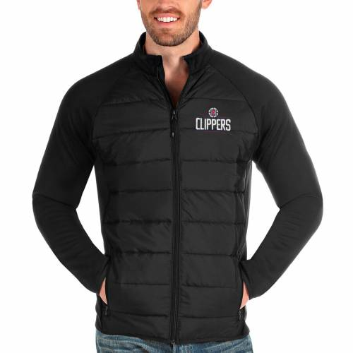 ANTIGUA クリッパーズ 【 LA CLIPPERS ALTITUDE FULLZIP JACKET BLACK 】 メンズファッション コート ジャケット 送料無料