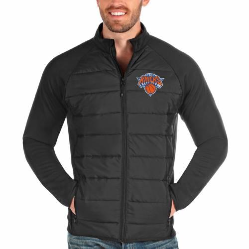 ANTIGUA ニックス チャコール メンズファッション コート ジャケット メンズ 【 New York Knicks Altitude Full-zip Jacket - Charcoal 】 Charcoal