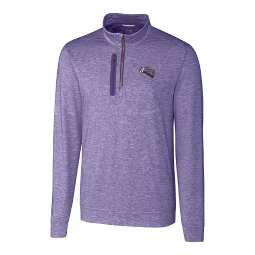 CUTTER & BUCK ステファン ステルス ロゴ 紫 パープル メンズファッション コート ジャケット メンズ 【 Stephen F Austin Lumberjacks Cutter And Buck Stealth Vault Logo 1/2-zip Jacket - Purple 】 Purple