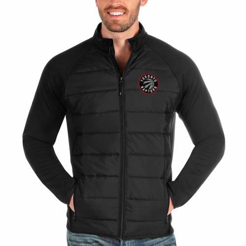 ANTIGUA トロント ラプターズ 黒 ブラック メンズファッション コート ジャケット メンズ 【 Toronto Raptors Altitude Full-zip Jacket - Black 】 Black