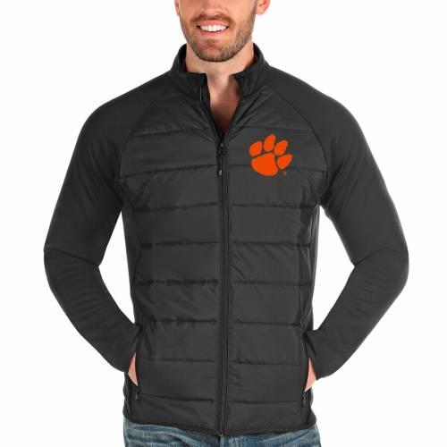 ANTIGUA タイガース チャコール メンズファッション コート ジャケット メンズ 【 Clemson Tigers Altitude Full-zip Jacket - Charcoal 】 Charcoal