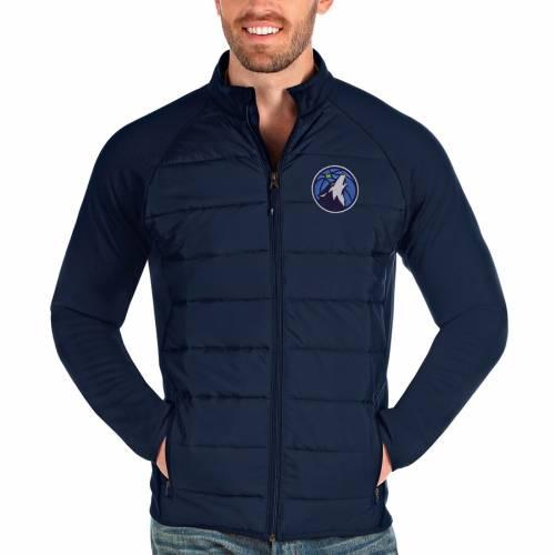 ANTIGUA ミネソタ ティンバーウルブズ 紺 ネイビー メンズファッション コート ジャケット メンズ 【 Minnesota Timberwolves Altitude Full-zip Jacket - Navy 】 Navy