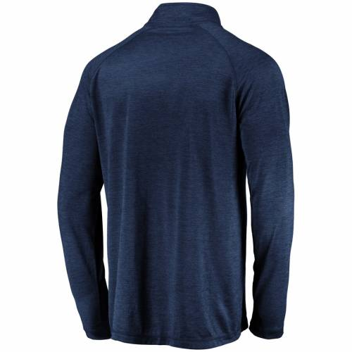 FANATICS BRANDED ユタ ジャズ ラグラン 紺 ネイビー メンズファッション コート ジャケット メンズ 【 Utah Jazz Iconic Striated Raglan Quarter-zip Pullover Jacket - Navy 】 Navy