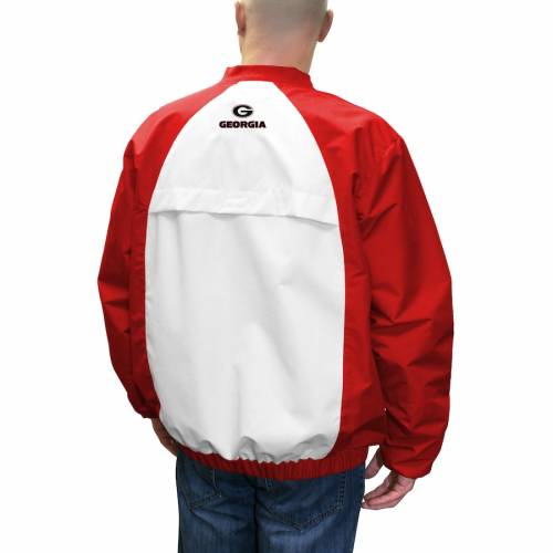 FRANCHISE CLUB ゲーム 【 GAME GEORGIA BULLDOGS DAY WINDSHELL PULLOVER JACKET RED 】 メンズファッション コート ジャケット 送料無料