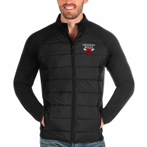 ANTIGUA シカゴ ブルズ 黒 ブラック メンズファッション コート ジャケット メンズ 【 Chicago Bulls Altitude Full-zip Jacket - Black 】 Black