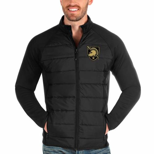 ANTIGUA 黒 ブラック メンズファッション コート ジャケット メンズ 【 Army Black Knights Altitude Full-zip Jacket - Black 】 Black