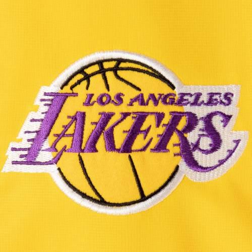 PROFILE レイカーズ マジェスティック スリーブ トラック メンズファッション コート ジャケット メンズ 【 Los Angeles Lakers Majestic Big And Tall Sleeve Taping Full-zip Track Jacket - Gold 】 Gold