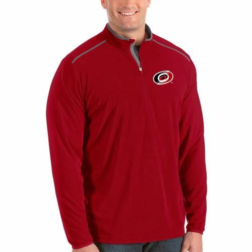 ANTIGUA カロライナ 黒 ブラック メンズファッション コート ジャケット メンズ 【 Carolina Hurricanes Big And Tall Glacier Quarter-zip Pullover Jacket - Black 】 Red