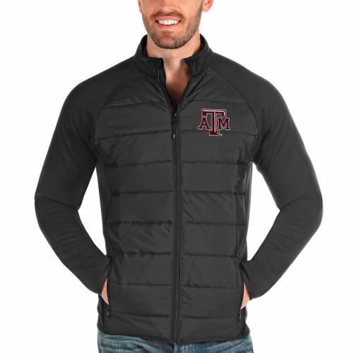 ANTIGUA テキサス チャコール メンズファッション コート ジャケット メンズ 【 Texas Aandm Aggies Altitude Full-zip Jacket - Charcoal 】 Charcoal