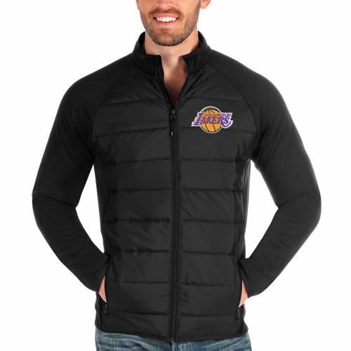 ANTIGUA レイカーズ 黒 ブラック メンズファッション コート ジャケット メンズ 【 Los Angeles Lakers Altitude Full-zip Jacket - Black 】 Black