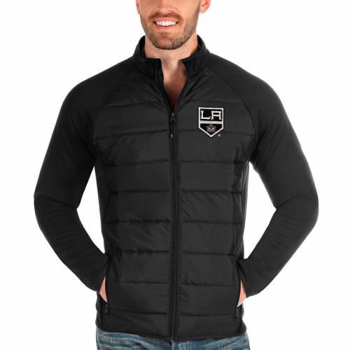 ANTIGUA キングス 黒 ブラック メンズファッション コート ジャケット メンズ 【 Los Angeles Kings Altitude Full-zip Jacket - Black 】 Black