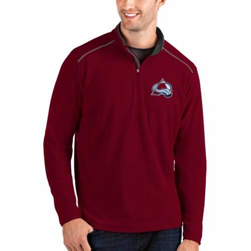 ANTIGUA コロラド ワイン色 バーガンディー メンズファッション コート ジャケット メンズ 【 Colorado Avalanche Glacier Quarter-zip Pullover Jacket - Burgundy 】 Garnet
