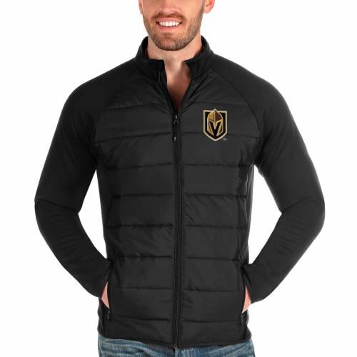 ANTIGUA 黒 ブラック メンズファッション コート ジャケット メンズ 【 Vegas Golden Knights Altitude Full-zip Jacket - Black 】 Black